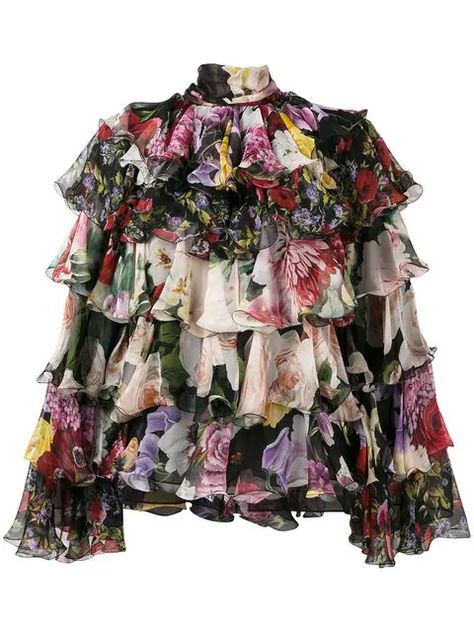 Dolce & Gabbana tiered floral blouse $2,803 - Shop SS19 Online - Fast Delivery, Price