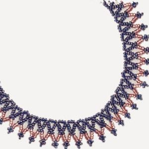 Free Bead Patterns and Ideas : Basic Easy Net Necklace - Free Pattern