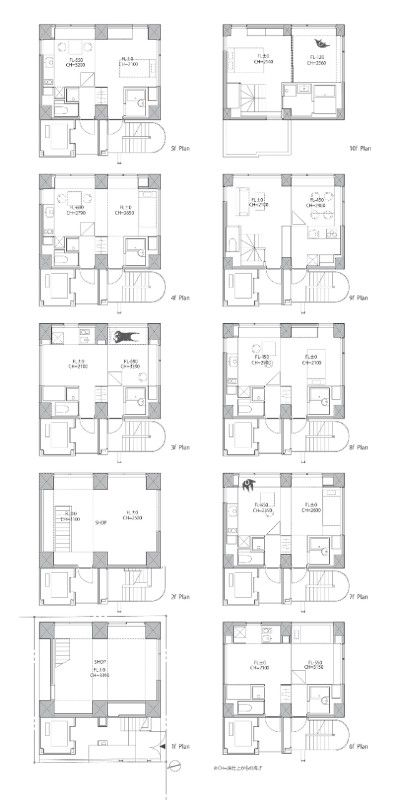 Tokyo A Residential Tower By Hiroyuki Ito Architects Apartment Layout Residential Building Plan Apartment Architecture