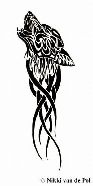 Image Result For Irish Wolf Tattoo Designs Tribal Wolf Tattoo Wolf Tattoo Design Wiccan Tattoos