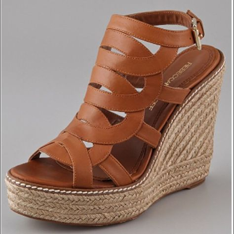 Rebecca Minkoff Shoes | Rebecca Minkoff Interlock Platform Espadrilles | Color: Brown/Tan | Size: 7