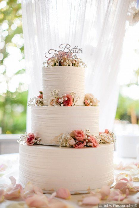White wedding cake + pink + blush pink florals + better together cake  topper - wedding cake ideas {Le… | Wedding cake topers, Pink wedding cake,  Cool wedding cakes