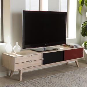 Baxton Studio Foxhill Mid Century Light Brown Finished Wood Tv