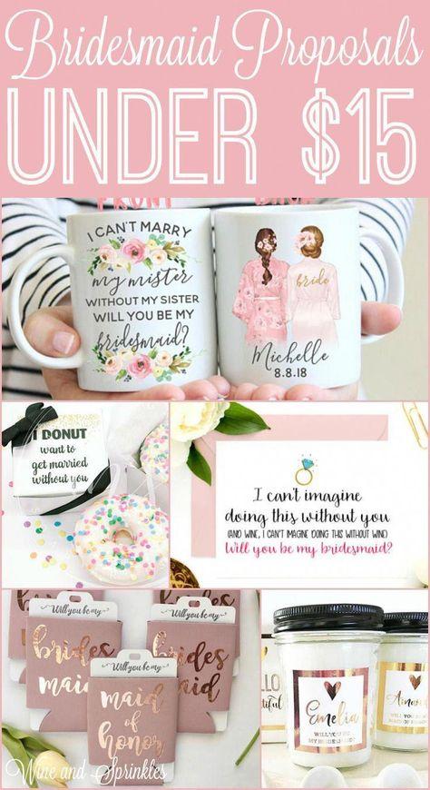 15 Cheap and Unique Bridesmaid Proposals under $15 #bridesmaidproposal #weddingparty #Weddings