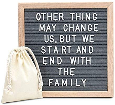 Amazon Com Amstorm Amstrom Gray Felt Letter Board 10x10 Inches Wall Mount Changable Letter Board With 300 Letters Felt Letter Board Letter Board Word Board