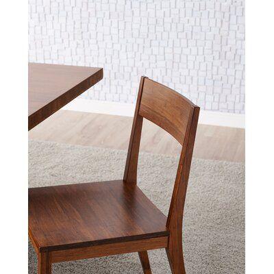 Brayden Studio Kirsti Solid Wood Dining Chair In 2020 Solid Wood Dining Chairs Dining Chairs Dining Chair Set