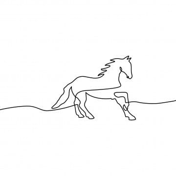 Continuous Line Drawing Of Horse Black And White Vector Illustration Vector Horse Silhouette Animal Png Transparent Clipart Image And Psd File For Free Downl Continuous Line Drawing Horse Drawings Line Drawing