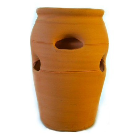 Terracotta Clay 2 Strawberry Pot Herb Jar Planter Walmart Com Strawberry Pots Terracotta Strawberry Pots Herb Pots