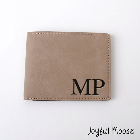 60fd9224ff71 New to JoyfulMoose on Etsy  Monogram Leather Wallet - Custom Leather Gift - Personalized  Mens Wallet (19.00 USD)