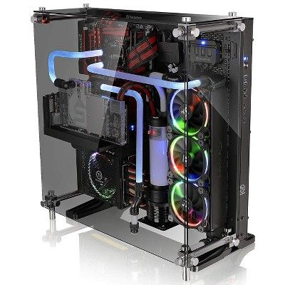 Thermaltake Core P3 Tempered Glass Upgrade Kit Clear Wall Mounted Pc Custom Computer Computer Setup