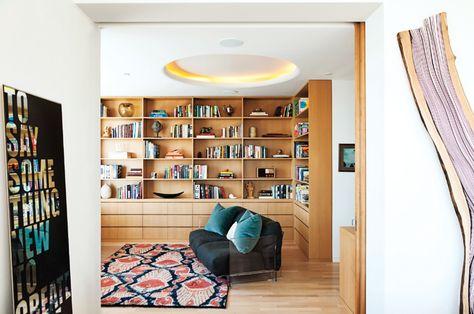 Bibliothèque moderne à la maison – 20 belles idées pour l\'intérieur ...