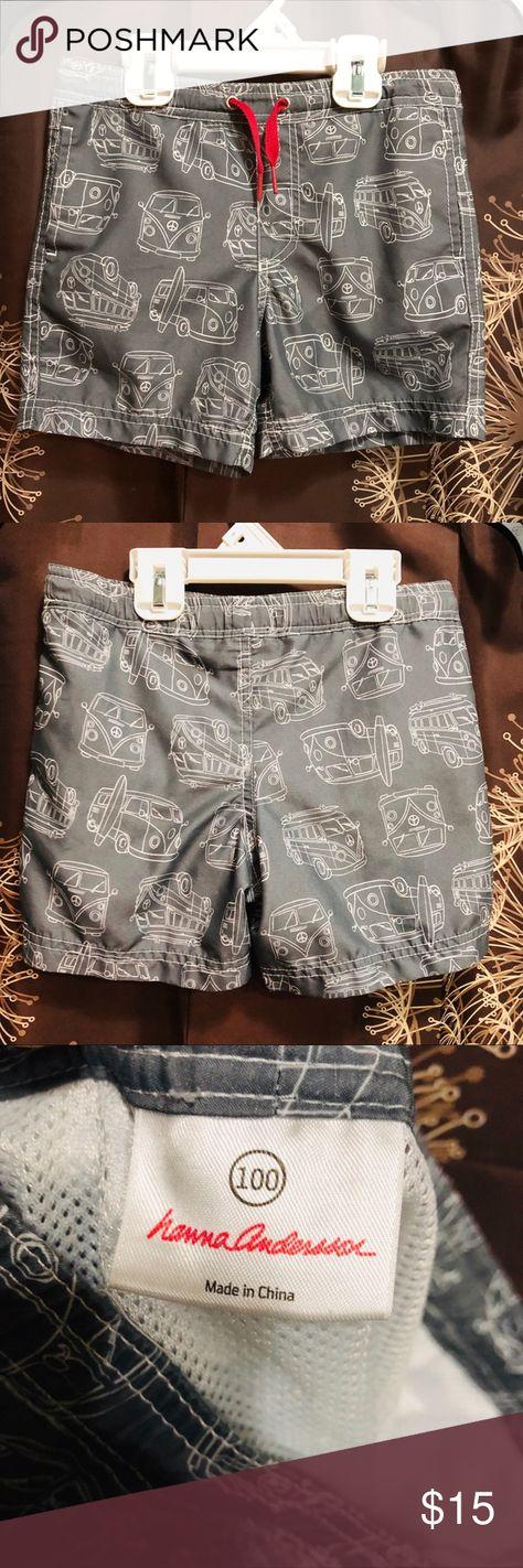 b4689e53cb HANNA ANDERSSON Gray Boys Swim Trunks Shorts 4 100 HANNA ANDERSSON Gray Boys  Swim Trunks Shorts