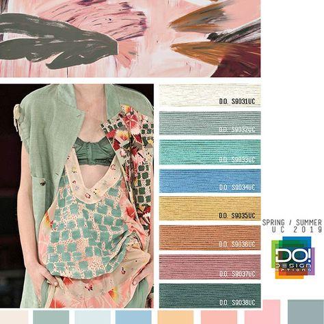 #DesignOptions SS19 Women's color forecast on #WeConnectFashion, trend theme: Tea Party, detail.
