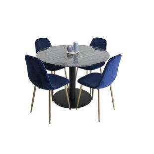 August Grove Alfreda Folding Dining Set With 4 Chairs Buy Dining Table Dining Table Setting Grey Round Dining Table