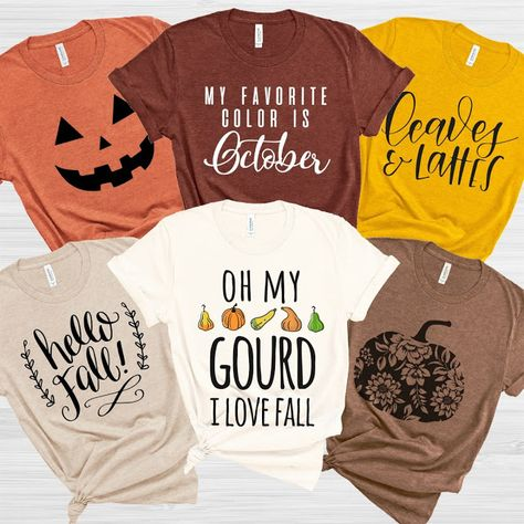 Fall into Autumn with a Soft Fall-inspired Bella Unisex Tee Fall Shirts, Cute Shirts, Funny Tshirts, Mom Shirts, Very Jane, Beauty And Fashion, Vinyl Shirts, Hello Autumn, Diy Shirt