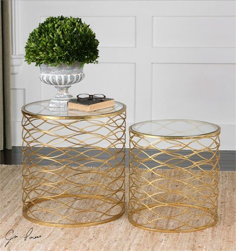Uttermost Zoa Gold Accent Tables Set/2 (24434)