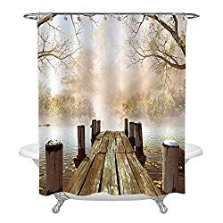 19 Fall Themed Shower Curtains That Will Instantly Transform Your