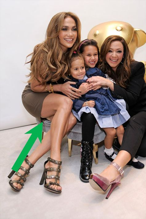 Pin for Later: 30 Celebrity Godparents You Had No Idea About Jennifer Lopez chose her longtime friend Leah Remini as the godmother of her twins, Max and Emme, whose father is Marc Anthony.