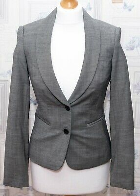 Austin Reed Smart Grey Blazer Jacket Size 6 Uk Grey Blazer Blazer Blazer Jacket