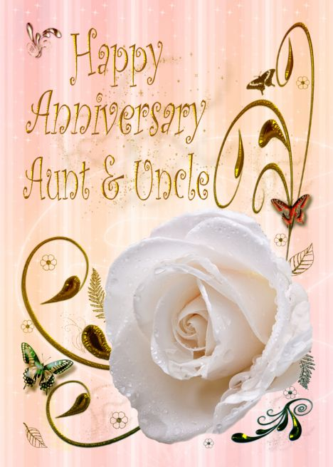 White Rose Happy Anniversary Card For Aunt And Uncle Card Ad Affiliate Happy Annivers Happy Anniversary Cards Birthday Cards Birthday Cards For Friends