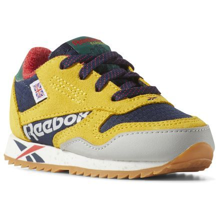 Reebok Classic Leather Ripple Altered Shoes Toddler Yellow Reebok Us Classic Leather Retro Running Shoes Fluffy Boots