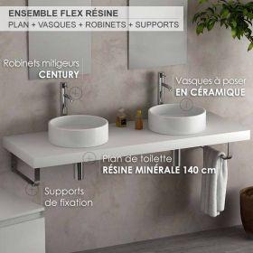 Plan Vasque Suspendu 100x54 Cm Matiere Composite Mineral Vasque Plan Vasque Vasque Suspendue
