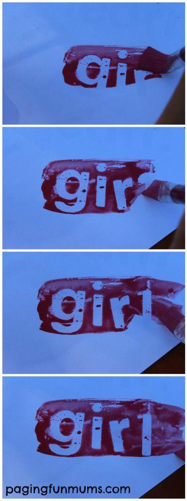 Magic Painting! Using Vaseline! Genius!