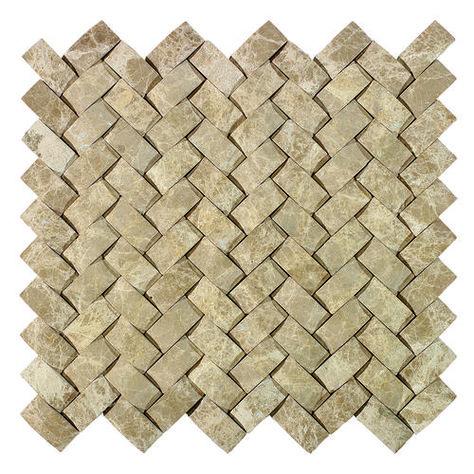 Delfino Stone Emperador Basketweave Mosaic Wall Tile 12 X 12 At