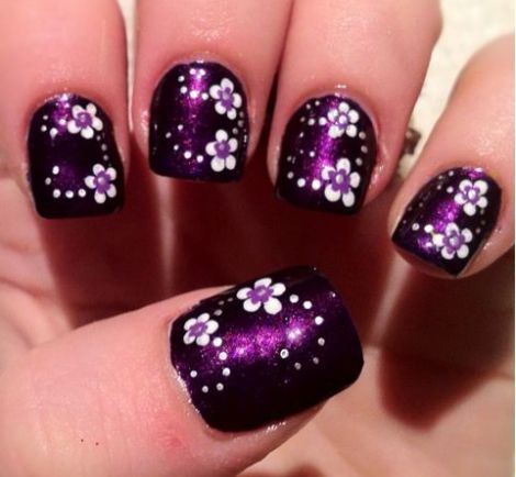 16 fabulous purple nail designs to try nail art pinterest 16 fabulous purple nail designs to try nail art pinterest purple nail designs purple nail and flower nails prinsesfo Images