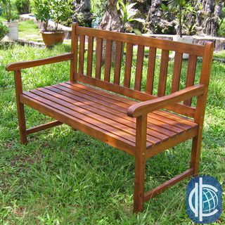 International Caravan Acacia Wood 49-inch Bench
