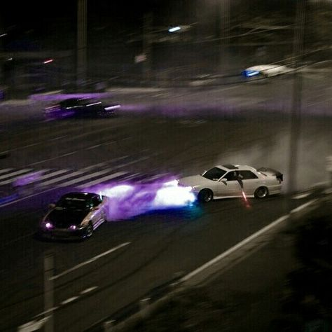 Discovered by Kairo Jaxon Zarovski. Find images and videos about night, purple and car on We Heart It - the app to get lost in what you love. Boujee Aesthetic, Bad Girl Aesthetic, Purple Aesthetic, Aesthetic Grunge, Aesthetic Photo, Aesthetic Pictures, Photo Wall Collage, Picture Wall, Street Racing Cars