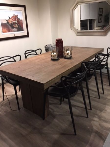 Structube Dining Table And Chairs For Sale In Great Condition Paid Over 1200 For Set Asking 600 For T Dining Table Chairs Dining Table Dining Table Setting