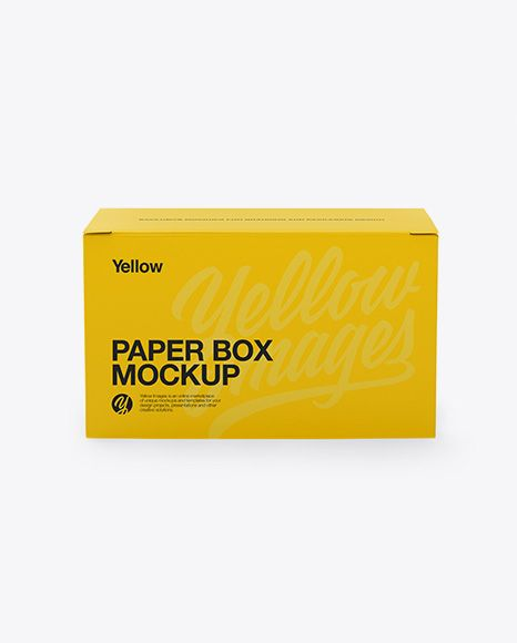 Download Paper Box Mockup Front View In Box Mockups On Yellow Images Object Mockups Mockup Free Psd Free Psd Mockups Templates Stationery Mockup