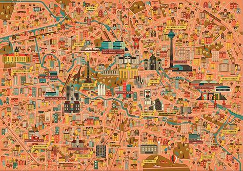 Dc8cd30660bf2dc44c190b2e16c6d37e Png City Maps Illustration Berlin City City Guide