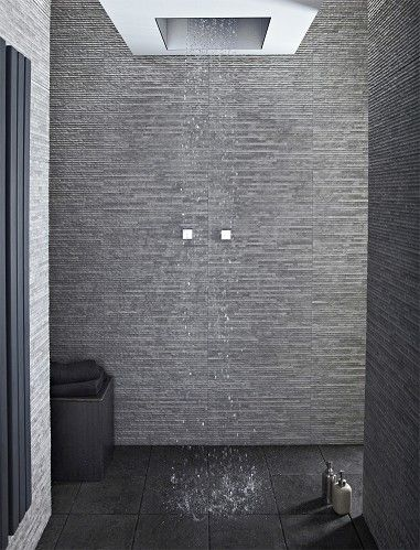 Stratum Anthracite Dark Grey Stone Tiles Tile Showers
