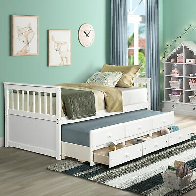 Ebay Twin Captain S Bed Bunk Bed Alternative W Trundle Drawers For Kids Topmax In 2021 Twin Daybed With Trundle Daybed With Trundle Twin Trundle Bed Twin bed with trundle and storage