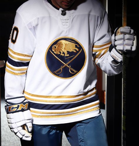 The jersey will be on display outside the Sabres Store throughout Fan Fest on Saturday, August 17 and is available for presale orders now at The Sabres Store. It will be available for purchase at The Sabres Store on September 17.