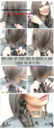 How #to #do #a #fishtail #braid #step #by #step #| #tutorial #| #easy #& #fast #| #gray #hair #grayhair #Braid #Easy #fast #fishtail #frisuren #Gray #grayhairbraids #grayhair #Hair #hairstyles #Step #Tutorial #gray hair teenager<br>