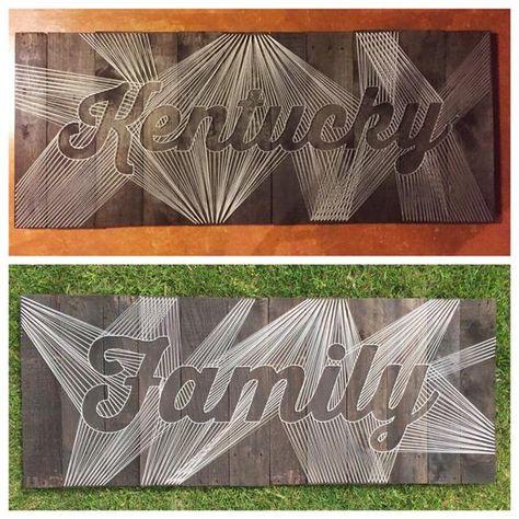 Custom Lettered String Art Word and Phrase Wall Art   Etsy