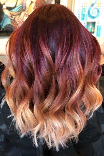 50 Flirty Burgundy Hair Ideas Lovehairstyles Com Ombre Hair Blonde Baylage Hair Burgundy Hair