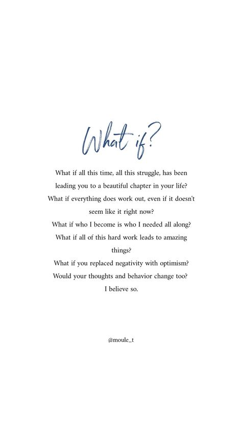 QUOTES | ... what if... / quotes to live by, motivational, inspirational, self development /// #quoteoftheday #inspirational #motivational