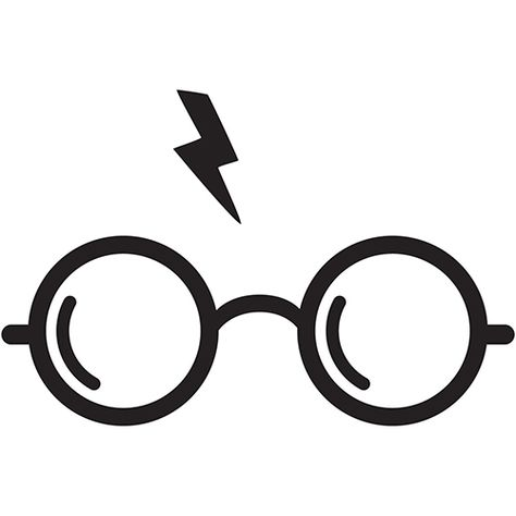 Harry Potter Glasses Die Cut Vinyl Decal PV458