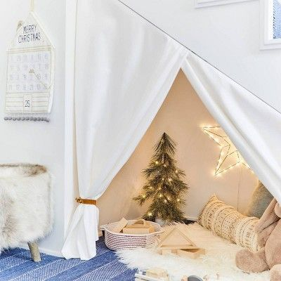 Christmas 2020 Readings For Kids 3' Faux Fur Round Rug White   Pillowfort™ in 2020 | Reading nook