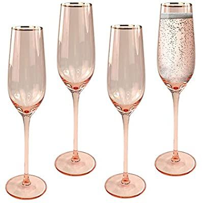 Amazon Com Champagne Flutes Set Of 4 Modern Crystal Stemware And Flute Glasses For Toasting Premium Drinkw In 2020 Glassware Gift Flute Glasses Crystal Stemware