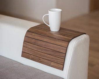 Sofa Arm Table Wood Sofa Arm Tray Sofa Arm Sofa Tray Sofa Tray Etsy Couch Tray Sofa Arm Table Couch Table