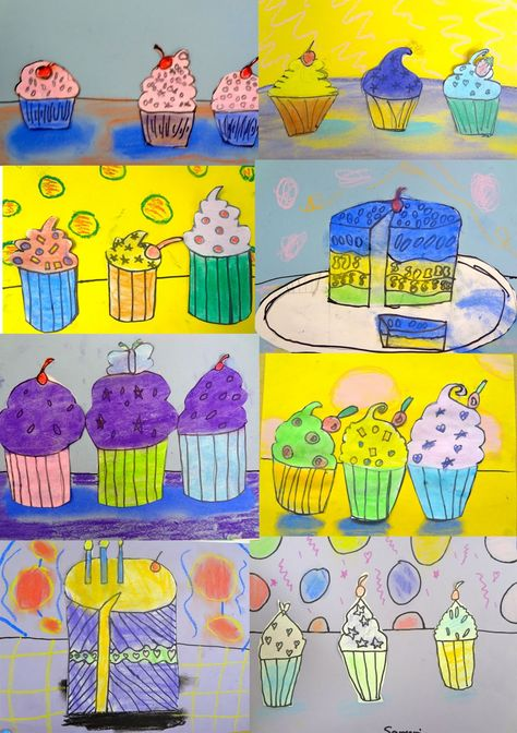 Wayne Thiebaud Art Lesson for Kids: 3rd, 4th, 5th
