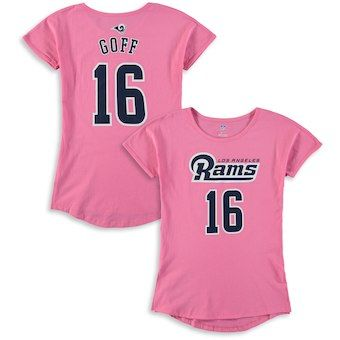 online retailer ca3d6 8be2d Jared Goff Los Angeles Rams Girls Youth Dolman Mainliner ...