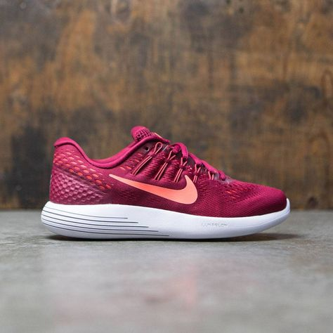detailed look b88a5 0314d Nike Women Lunarglide 8 Running (red   noble red   bright mango-bright  crimson)