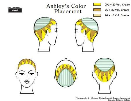 Horizontal Weave Hair Color Diagram 96