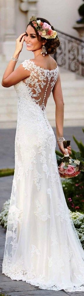 Fitted Wedding Dresses With Train Fashion Dresses